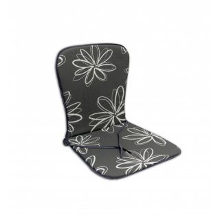 Sedák SAMOA - sivý s kvetmi