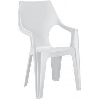 Plastové kreslo DANTE - biele