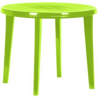 Plastový kulatý stlů LISA - light green