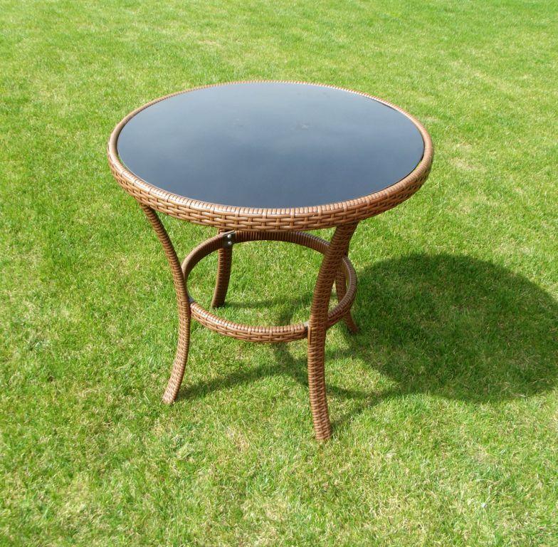 Záhradný stôl RATAN ø 80 cm