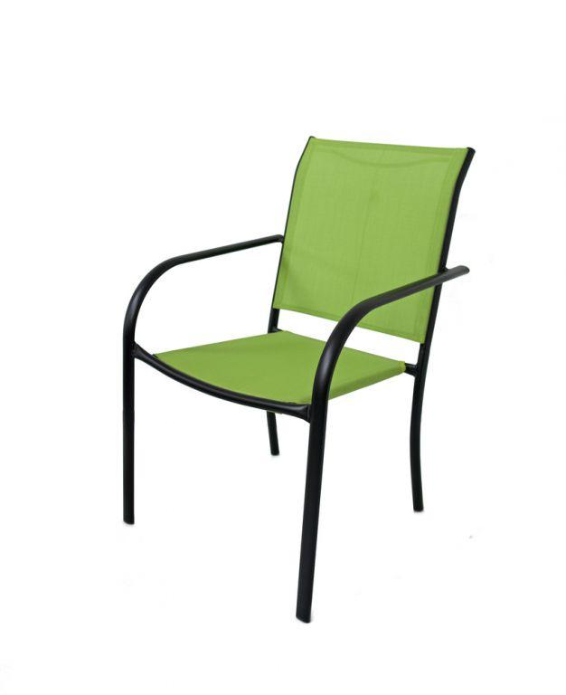 Záhradné kovové kreslo zelené