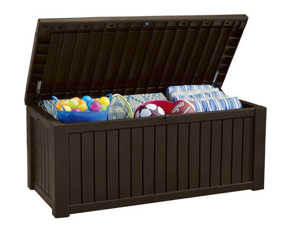 Záhradný úložný box ROCKWOOD 65 x 76 x 155 cm – hnedý
