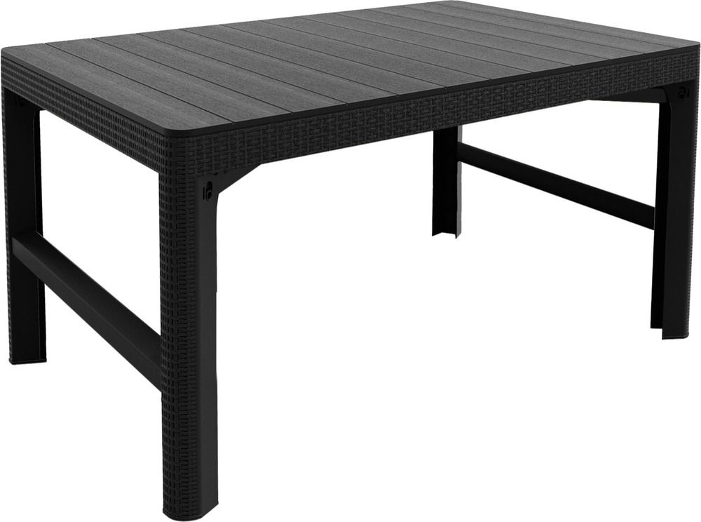 Záhradný plastový stôl LYON 116 x 72 cm - grafit