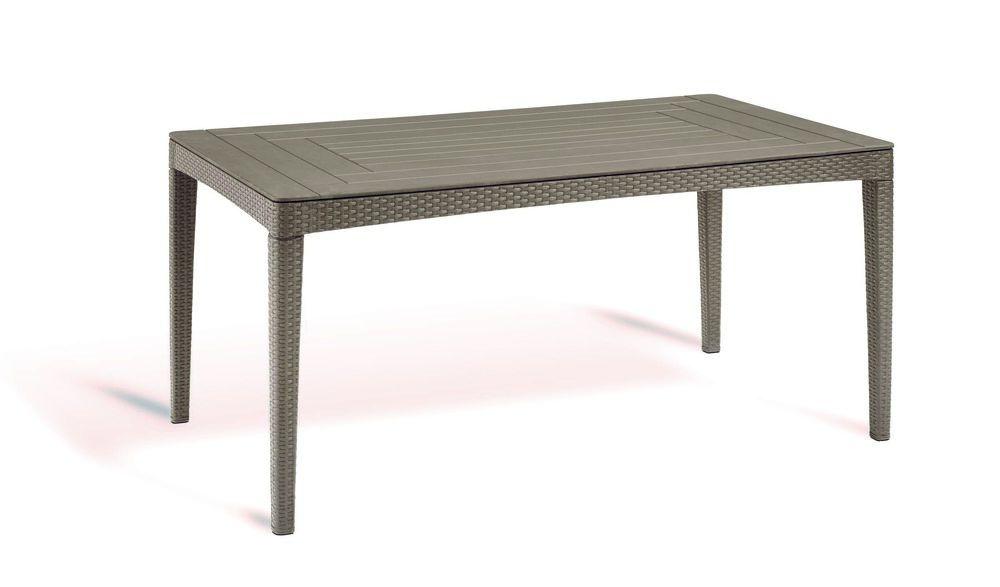 Polyratanový záhradný stôl GIRONA - cappucino