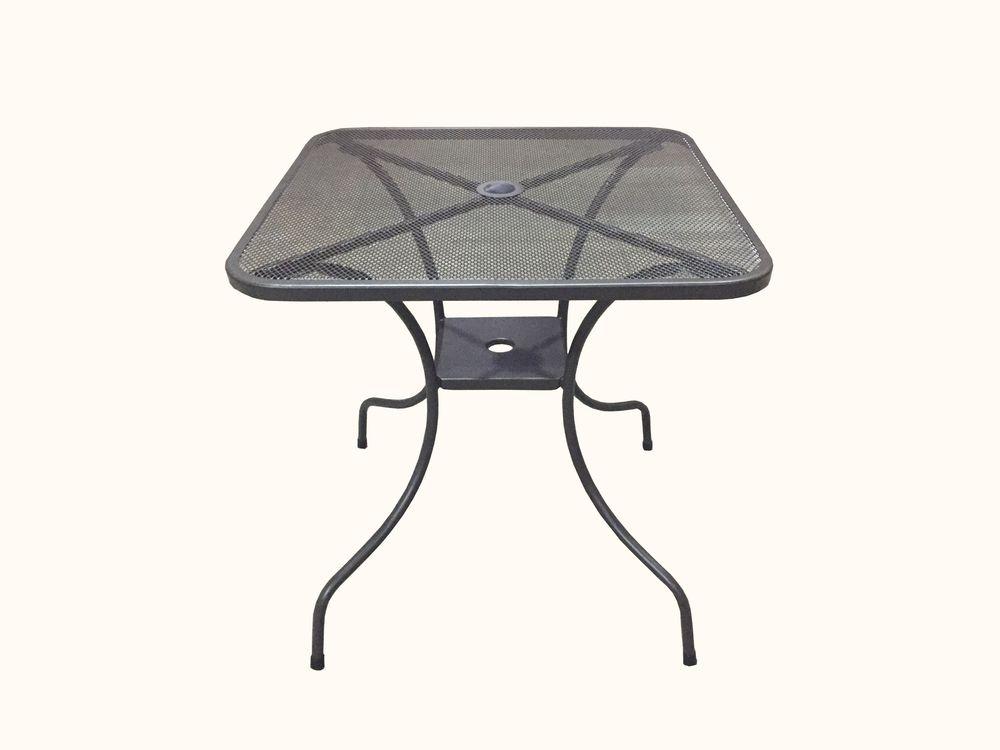 Záhradný kovový stôl ZWMT-80 - štvorec 80 x 80 cm