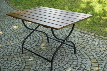 Weekend drevený skladací stôl