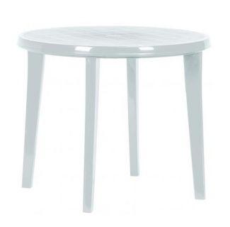 Záhradný plastový stôl LISA 90 cm biela
