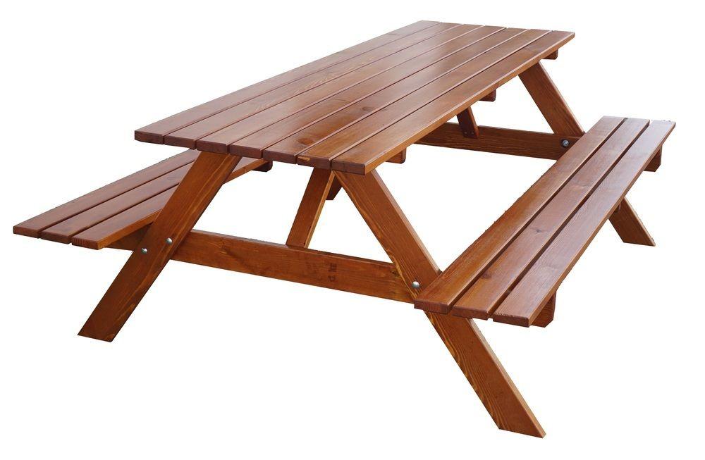 Záhradný drevený set PIKNIK - 180 cm, lakovaný
