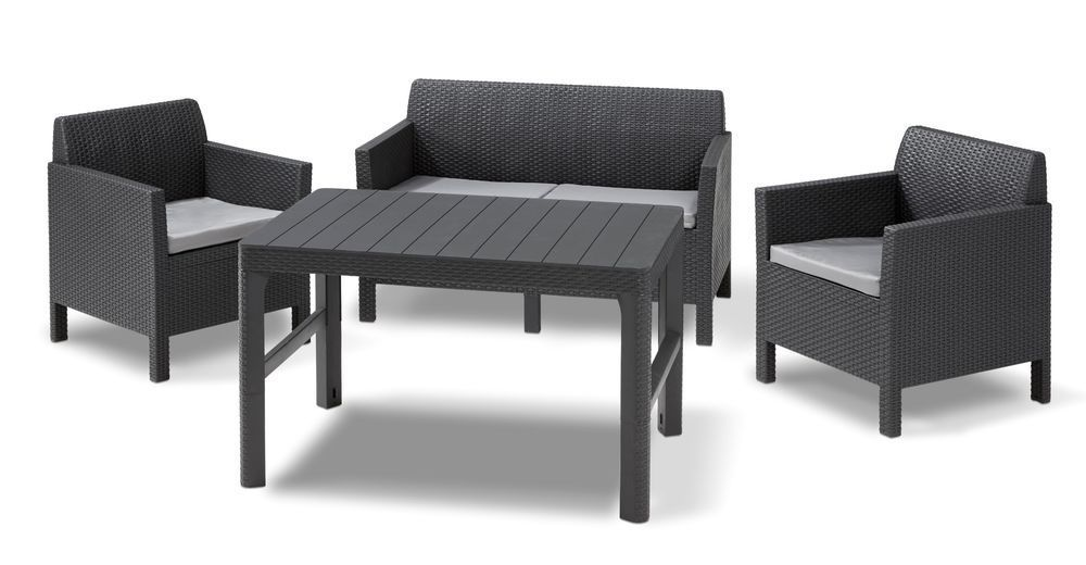 Set Orlando + Lyon table - grafit